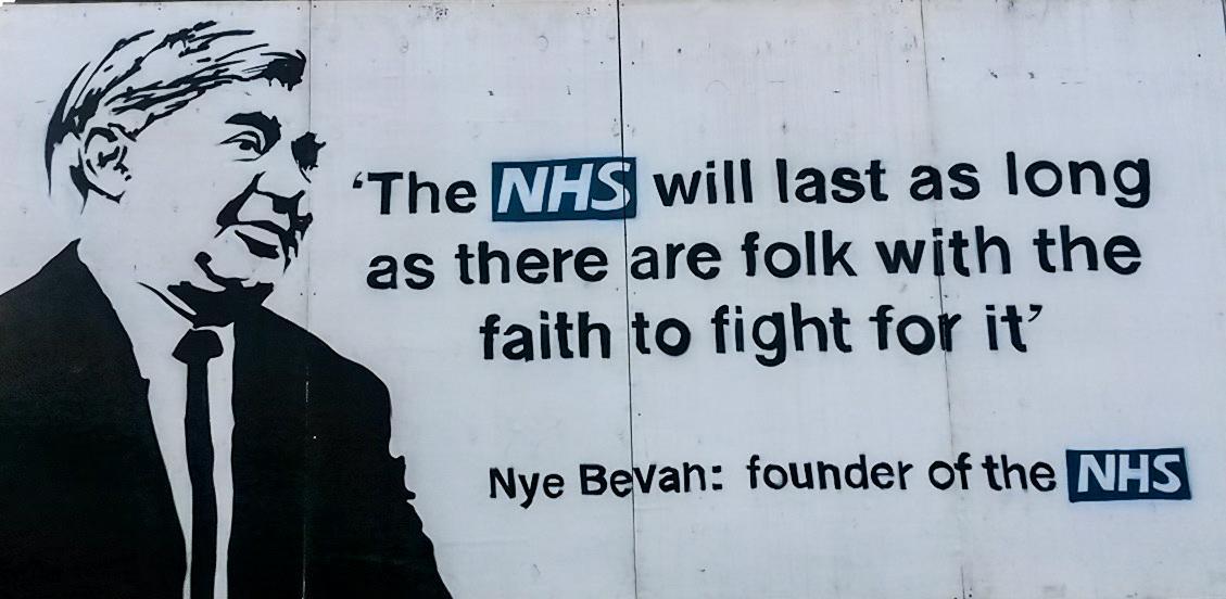 Image: Nye Bevan graffiti