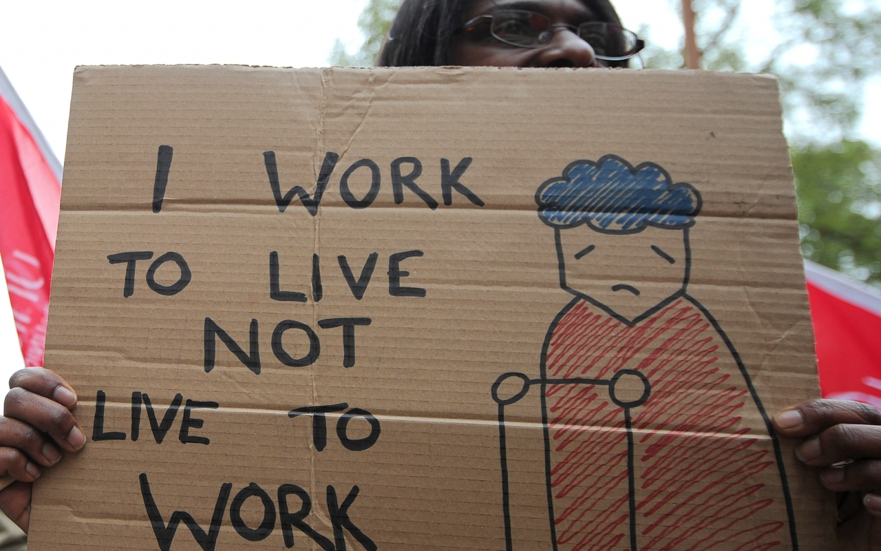 Image: I work to live not live to work