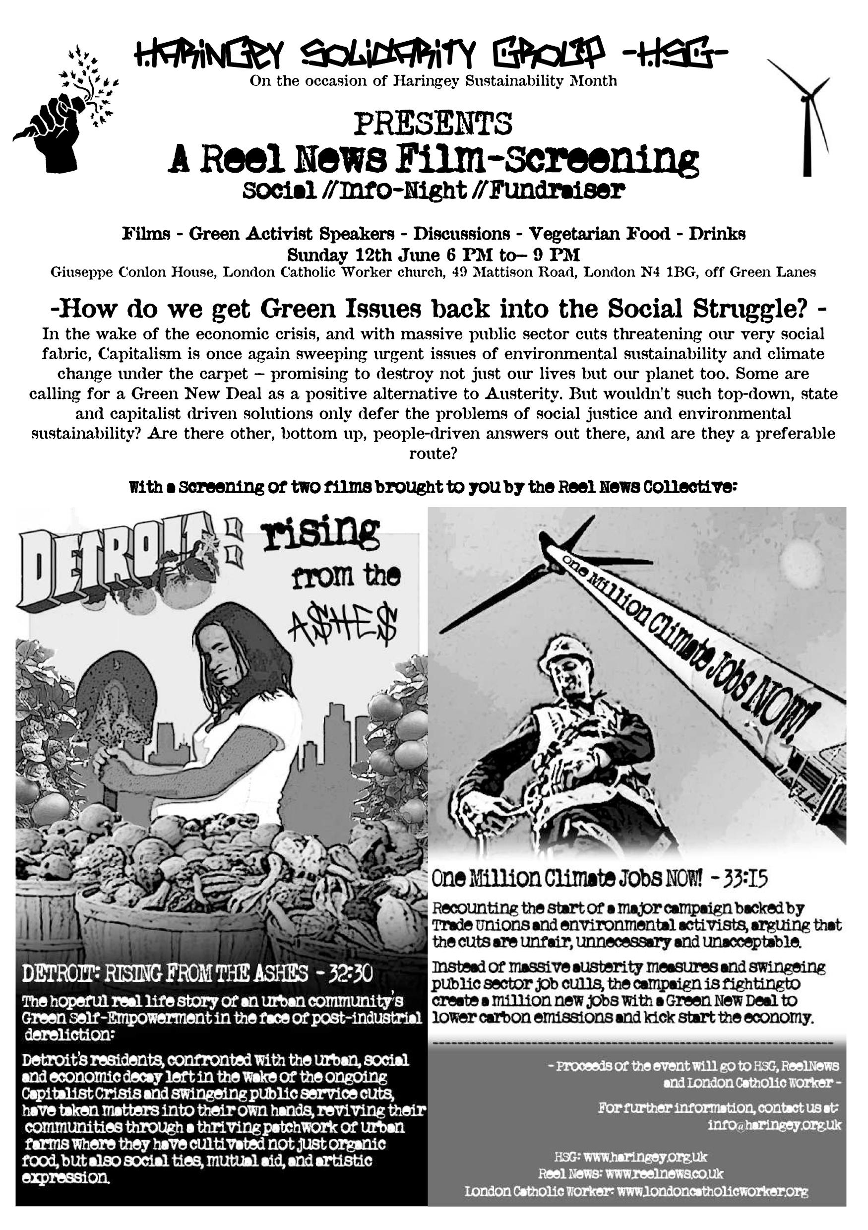 Reel News film night flyer