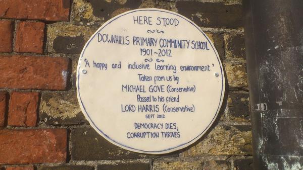 Downhills plaque