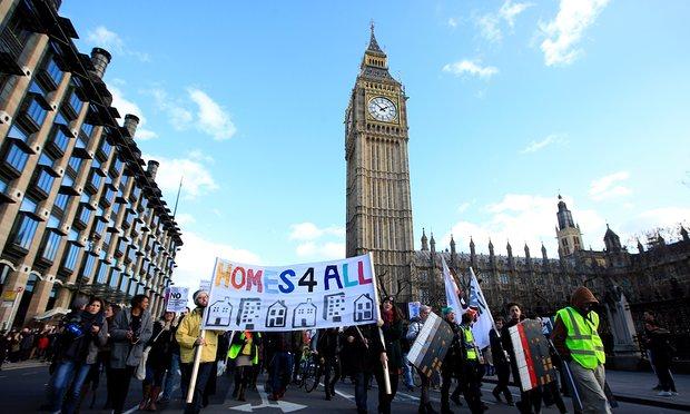 Image: Homes for all demonstration